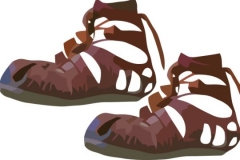Clip Art - Roman Clothes Roman Caligae (Sandal)
