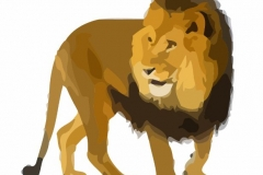 Clip Art - Roman Galdiators Animals Lion