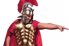 Clip Art - Roman Soldier Pointing