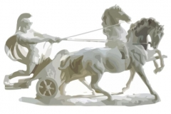 Clip Art - Roman Soldier on Chariot