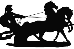 Clip Art - Soldier on Chariot Horses